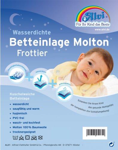 Alvi 93756 Betteinlage Baby-Wohl-Molton Frottee 60x120cm