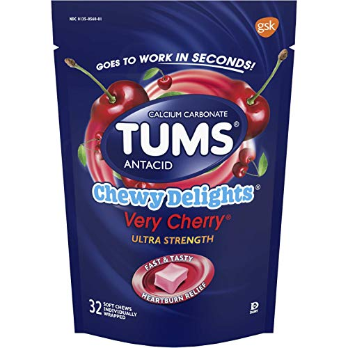 Tums Chewy Delights Soft Chews, Very Cherry, 32count by Tums