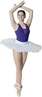 Women Professional Ballet Platter Tutus 5 Layers Skirt Without Underpants