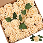 Artificial-Flowers-Roses-25pcs-Red-Roses-Wedding-Decoration-Real-Looking-Fake-Roses-wStem-for-DIY-Wedding-Bouquets-Centerpieces-Arrangements-Party-Baby-Showers-Home-Decorations