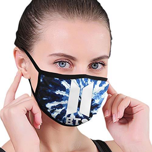 Renfkbgf BTS Logo Nahtloser staubdichter Bandana-Gesichtsschutz mit wiederverwendbarem Schal