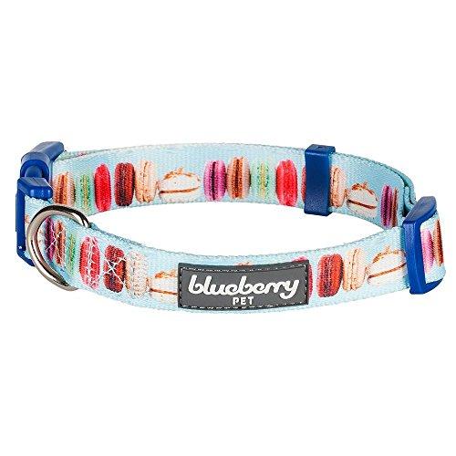 Blueberry Pet Essentials Hundehalsband, verstellbar, 9 Muster, Größe XS, Halsumfang 19,5-25,4 cm