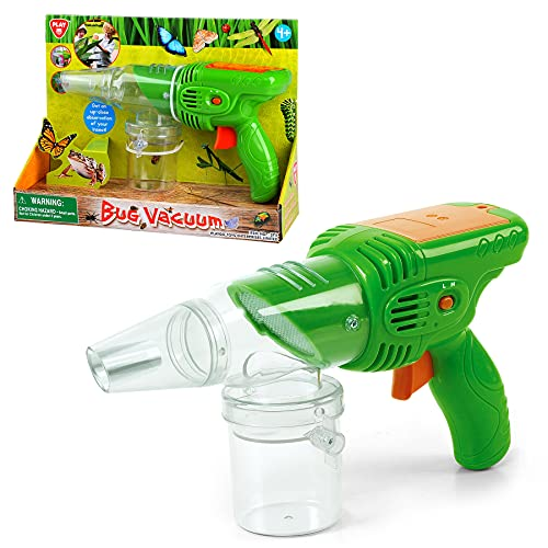 PLAY Bug Catcher Toy for Kids, Bug Vacuum with Two Suction Modes and Viewing Chamber with Magnifying Glass, Powerful Suction Bug Vacuum for Kids Background Exploration, Best Gift for Kids Age 4+