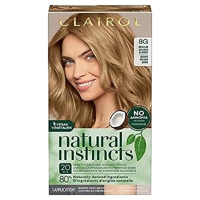 Clairol Natural Instincts Semi-Permanent, 8G Medium Golden Blonde, Sunflower, 1 Count