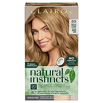 Clairol Natural Instincts Semi-Permanent Hair Dye 8G Medium Golden Blonde Hair Color 1 Count