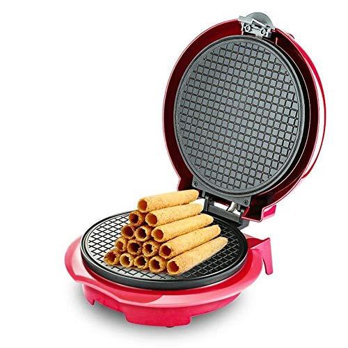 SeesEE.U Waffle Maker Waffle Maker - Rollo de huevo frito crujiente molde de horno Pancake Bakeware diseño de suspensión calefacción de doble cara - 750 W placas para gofres extraíbles