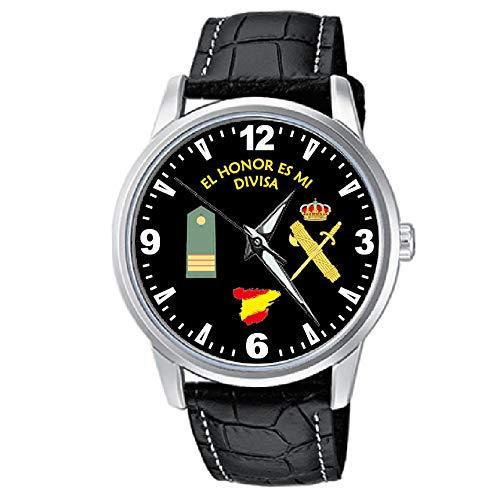 CASIO® Reloj Guardia Civil Sumergible con Rango Sargento y Correa de Cuero