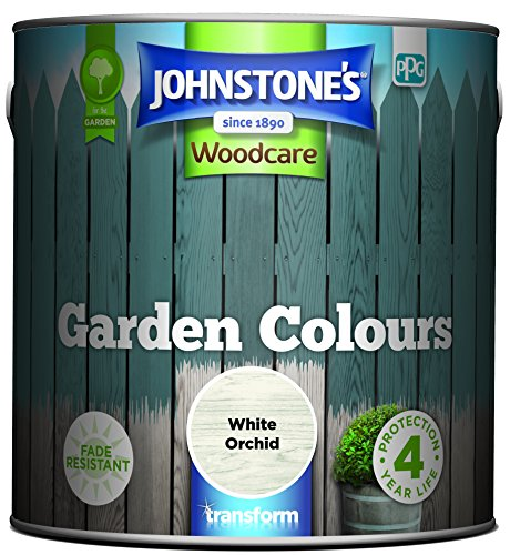 Johnstone's 309291 Garden Colours, White Orchid, 2.5 Litre