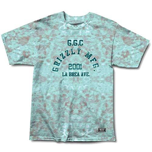 Grizzly Griptape T-Shirt à Manches Courtes pour Homme Petit Turquoise Tie-Dye.