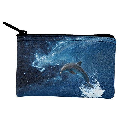 Dolphin IN Space Galaxy Ocean Wave Coin Purse