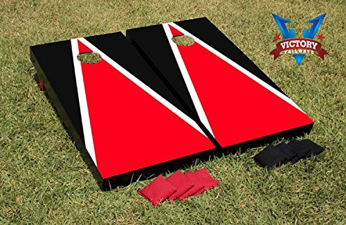 Sensational Matching Triangle Cornhole Bean Bag Toss Game Color Red And Evergreenethics Interior Chair Design Evergreenethicsorg