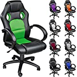 TECTAKE Luxury Office Racing Chair - Different Colours - (Green)