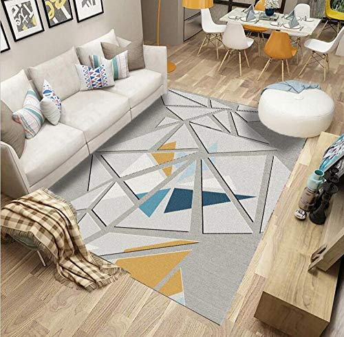 DLSM Geometrischer Teppich der modernen Mode des gebrochenen Stils Küchensofa Couchtisch Badezimmer Wohnzimmerkorridor Büro Schlafzimmer dekorativer Teppich-60x90cm