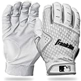 Franklin Sports 2nd-Skinz Batting Gloves - White/White - Adult Medium