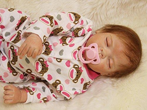 HOOMAI 20inch 50CM Reborn Babys mädchen Puppe lebensecht silikon Girl schlafend doll Magnetisches Spielzeug