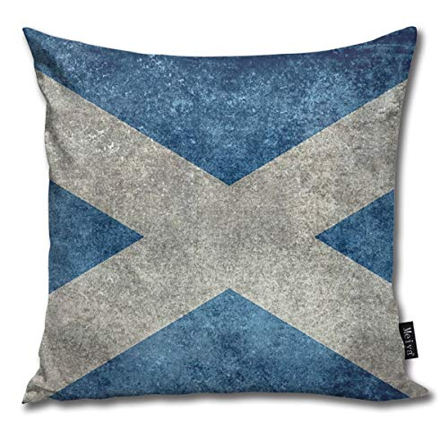 Rasyko - Federa per Cuscino con Bandiera Nazionale della Scozia, Versione Vintage, Idea Regalo, per Divano, Letto, Auto, Divano, Dimensioni: 45,7 x 45,7 cm