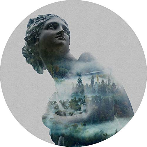 Komar DOT runde und selbstklebende Vlies Fototapete Gaia - Ø Durchmesser 125 cm - 1 Stück - Skulptur, Frau, Italien, Tapete, Dekoration, Wandtapete, Wandbild, Wandbelag, Designtapete - D1-049