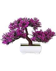 Kunstmatige Potplant, Nep Plant Ingemaakte Kunstplanten Simulatie Pijnboom Bonsai voor Thuiskantoor Yard Desktop Tuindecoratie