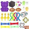 Herefun 25Pcs Juguetes Sensoriales Kit, Juguetes Antiestres para Aliviar el Estrés, Juguetes Fidget Autismo Sensorial Juguete, Fidget Toys Sensory Fidget Toys para Niños Adultos (Color1) de Herefun