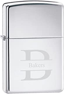 Personalized Zippo High Polished Chrome Lighter - Stamped