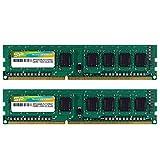 シリコンパワー デスクトップPC用メモリ 240Pin DIMM DDR3-1333 PC3-10600 4GB×2枚 永久保証 SP008GBLTU133N22