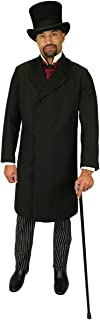 Historical Emporium Men's Double Breasted Wool Blend Frock Coat