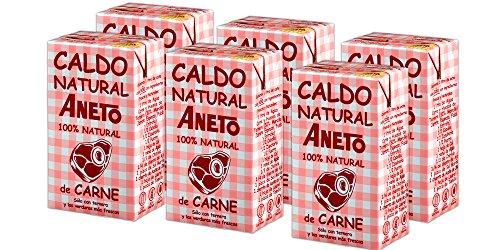 Aneto 100% Natural - Caldo de Carne - caja de 6 unidades de 1 litro