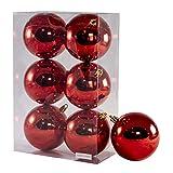 Arcoiris® Bolas de Navidad Multicolor, 6 Unidades de 8cm, Navidad Bolas para el árbol de...