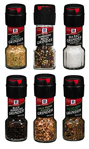 Assorted McCormick Spice Grinder Variety Pack, 6 count
