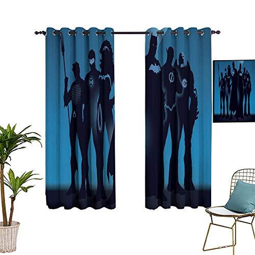 Isolierungsplatte für Wohnzimmer und Arbeitszimmer, The Avengers haben einzigartige Kunstposter, verdunkelte Paneele im Wohnzimmer und Schlafzimmer, 137,2 x 160 cm.
