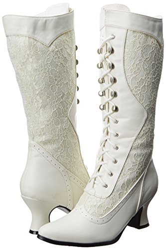 Ellie Shoes Women's 253-Rebecca Lace Heel Boot 5
