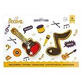 Kit 2 TAGLIAPASTA Musica Rock a Forma di Nota Musicale e Chitarra elettrica - formine Taglia Biscotti per Creare Fantastici Dolci e decori Torte - Ideale per Decorazioni in Pasta di Zucchero