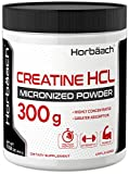 Micronized Creatine HCL Powder | 300 Grams | Unflavored Hydrochloride Powder | Superior Absorption, Highly Concentrated | Vegetarian, Gluten Free, Non-GMO | by Horbaach