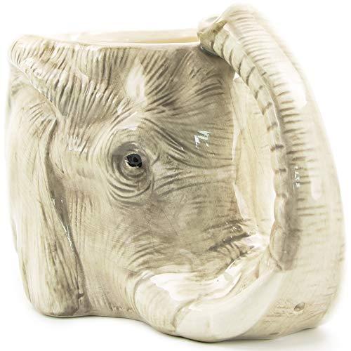 Yodensity Taza de café con diseño de elefante salvaje en 3D y elefante, de cerámica, ideal para la oficina