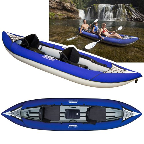Aquaglide Chinook XP Tandem XL 3Person Inflatable Kayak Package 2015
