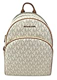 MICHAEL Michael Kors Abbey Jet Set Large Leather Backpack (Vanilla)