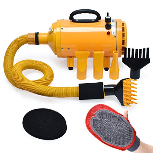 Free Paws Pet Dryer Dog Cat Hair Dryer Blower Professional, Grooming Professional 4HP Dog Dryer with Heating, for Large Small Pets Dogs Cats, Variable...