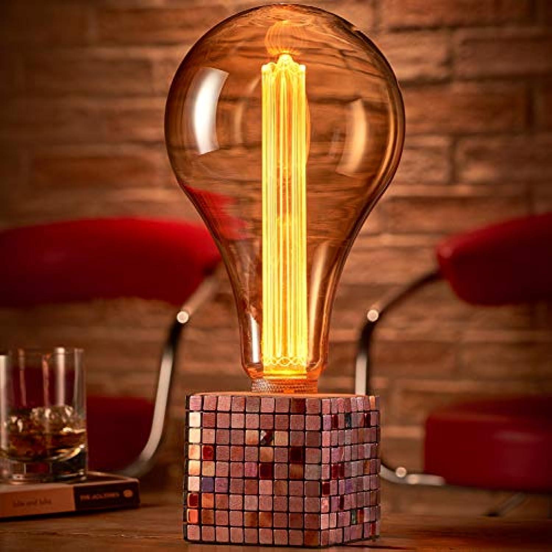 Auraglow Mysa Modern Modern Modern Zeitgenssisch Bunte Mosaikstein Zementwürfel-Lampe Nachttischlampe Licht - mit XXL LED Lampe [Energieklasse A]