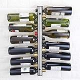 AERVEAL Soporte de Estante de Vino Creativo 12 Agujeros Uva de Vino Barra de Vino Pantalla Percha de Suspensión Organizador de Alenamiento, Estados Unidos, Color, Plata
