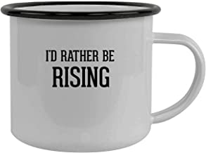 I'd Rather Be RISING - Stainless Steel 12oz Camping Mug, Black
