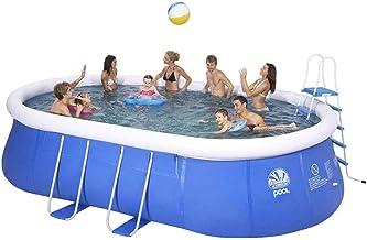 WGXY Gran Piscina, los Hijos Adultos Piscina para niños Oval Piscina privada, Engrosamiento de Protección Ambiental de Piscinas al Aire Libre Fiesta del Agua Verano
