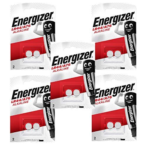 10 Energizer AG13 / A76 / LR44 Knopfzelle Alkaline Alkali Batterie, 10-er Pack, Lange Haltbarkeit (Haltbarkeitsdatum markiert)