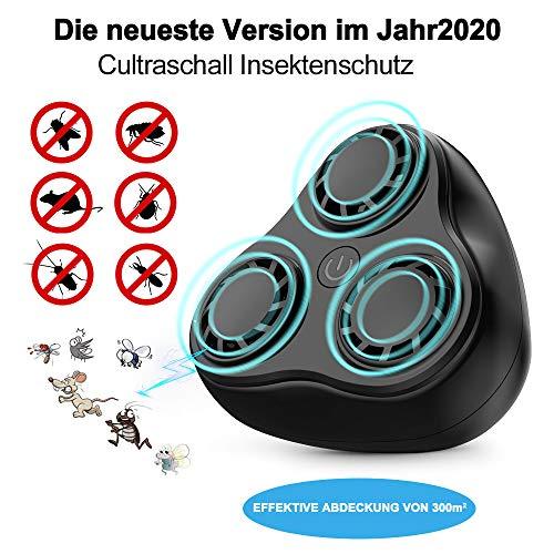 AONBYS Ultraschall Schädlingsbekämpfer, Haustierfreundlich Ultraschall mit Elektromagnetische Vertreiber gegen Ratten, Mäuse, Spinnen, Ameisen und Kakerlaken für das ganze Haus …
