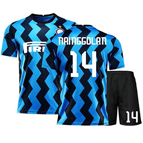 LASERIPLF 2020-2021 Mailand Nainggolan Icardi Fußball Trikot Kits T-Shirt Shorts Fußballuniform Fur Herren/Jugend/Kinder/Jungen Sportswear Set-B-L