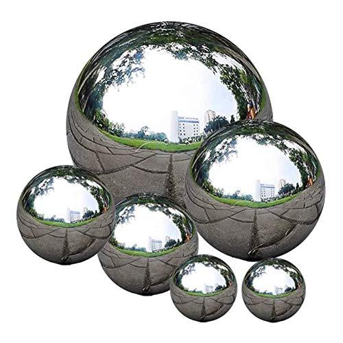 Romote Garten-Spiegel-Ball Edelstahl Ball Anstarrt Seamless Gazing Kugel Spiegel Poliert Hohle Kugel-Reflective Garten Kugel 6 Stück