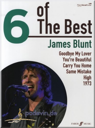 James Blunt Six of The Best Songbook Sheet Music