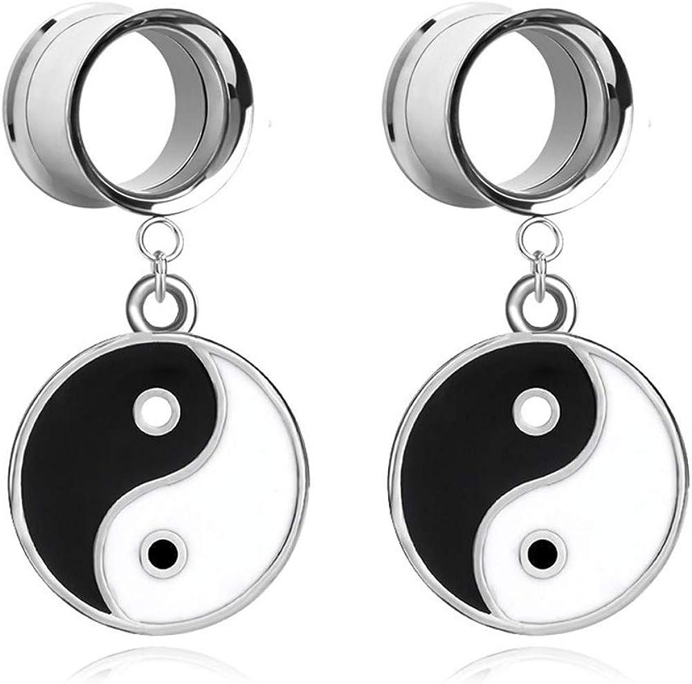 JIAPEIJIA Tai Chi Ear Plugs Tunnel and latest Popular product Gauge Yin Yang Ex