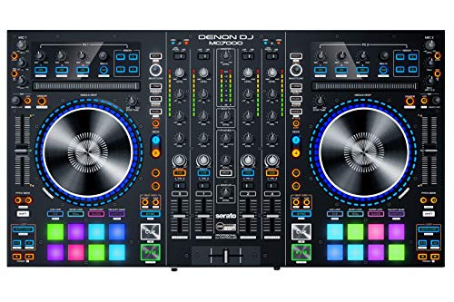 DENON MC7000 Digitaler Controller mit 4 Kanälen für DJs mit doppelter Audio-Interfaction