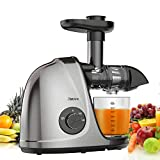 Jocuu Slow Masticating Juicer Machines with Brush & Recipes, Juice Extractor for Fruits and...