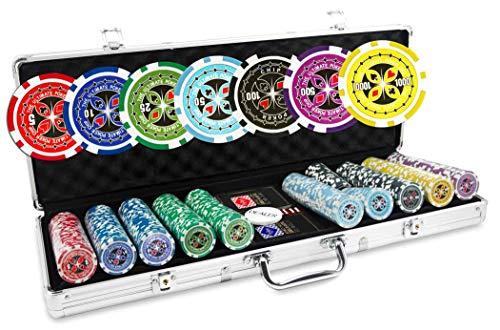 Ultimate Poker Chips Valigetta di fiches da Poker, 500gettoni